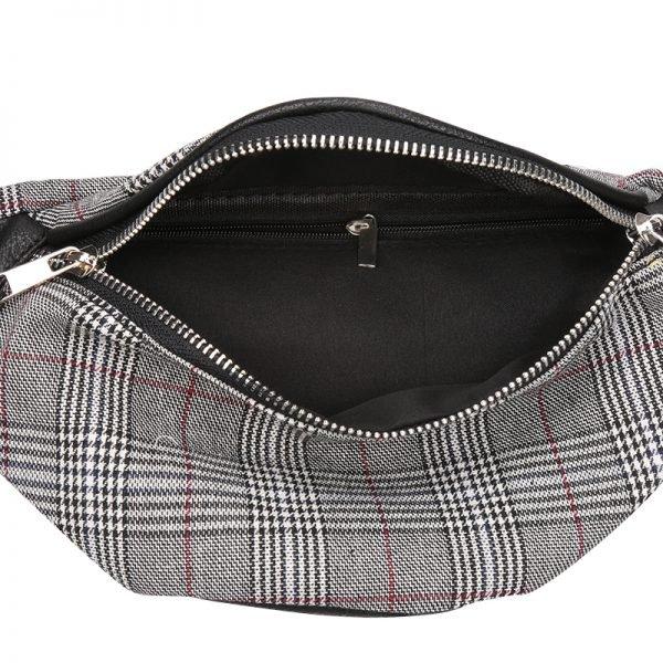 Heuptas Old Skool grijs grijze zwart fannypack heuptassen met rits heup tassen binnen vakje musthave fashion accessiores festival kopen bestellen