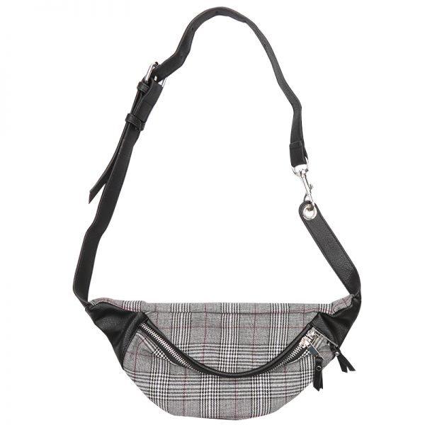 Heuptas Old Skool grijs grijze zwart fannypack heuptassen met rits heup tassen musthave fashion accesiores festival kopen bestellen