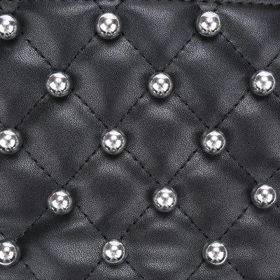 Heuptas Round Studs zwart zwarte fannypack heuptassen met rits zilveren studs musthave fashion accesiores festival kopen riemtasjes