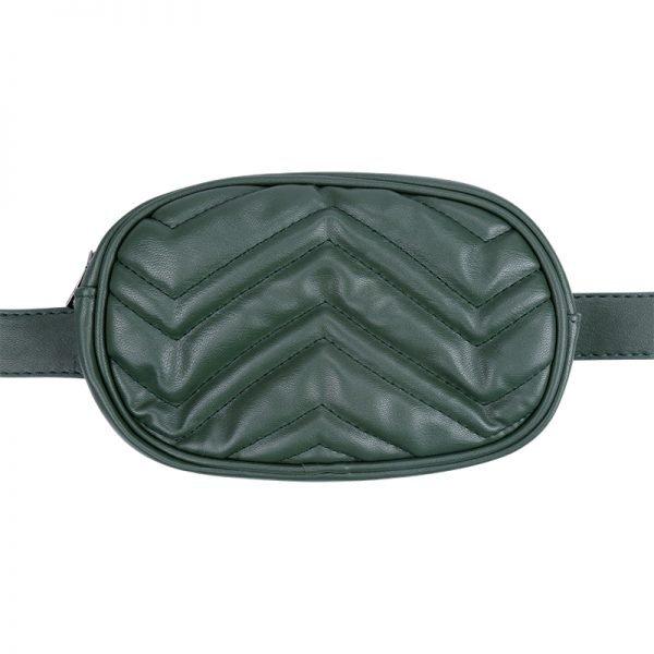 Heuptas-Stylisch-groen groene ovale -beltbag-riemtas-heuptasje-met-riem-fashion-festival-musthave-look-a-like-tassen-online-festival bags