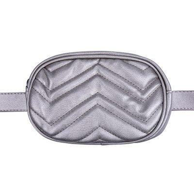 Heuptas-Stylisch-metallic grijs grijze ovale -beltbag-riemtas-heuptasje-met-riem-fashion-festival-musthave-look-a-like-tassen-online-festival bags