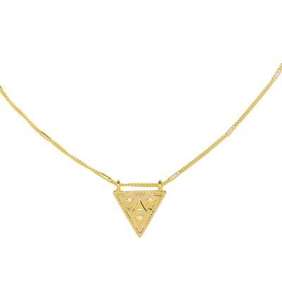 Ketting Magic Triangle goud gouden lange dames ketting met driehoeks bedel festival kettingen laagjes musthave fashion online detail