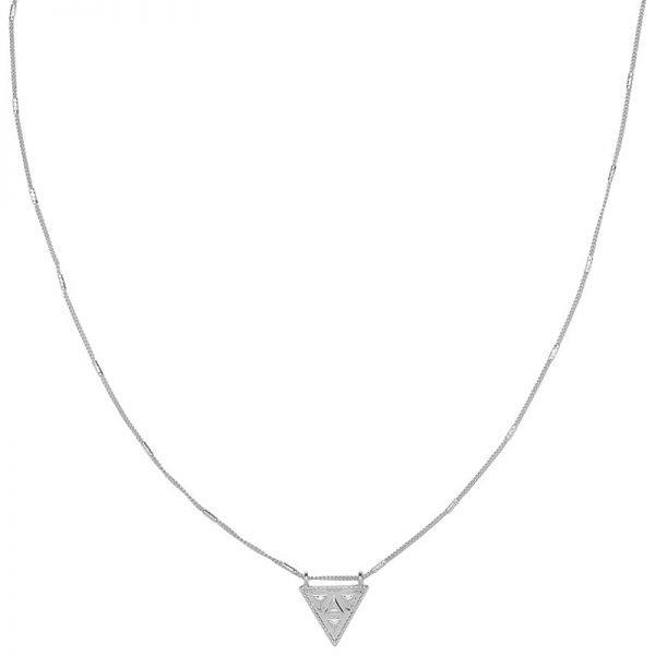 Ketting Magic Triangle zilver zilveren lange dames ketting met driehoeks bedel festival kettingen laagjes musthave fashion online