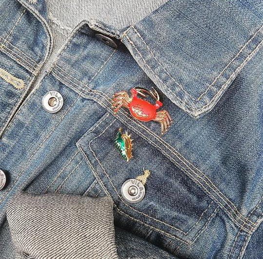 Kleding broche retro kledingspeltjes krab vorm kleding pins brooches kleding pins patches musthaves fashion items