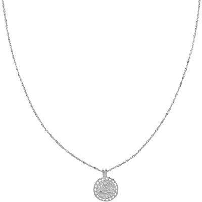 Lange Ketting Nature Calls zilveren zilver dunne dames kettingen ronde munt bedel gold plated necklage fashion musthave