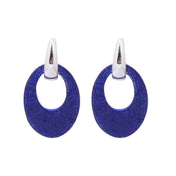 Oorbellen My Sparkles blauw blauwe glitter oorbellen zilver zilveren strass steentjes musthave earrings oorbel kopen