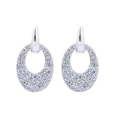Oorbellen My Sparkles zilver zilveren glitter oorbellen zilver zilveren strass steentjes musthave earrings oorbel kopen