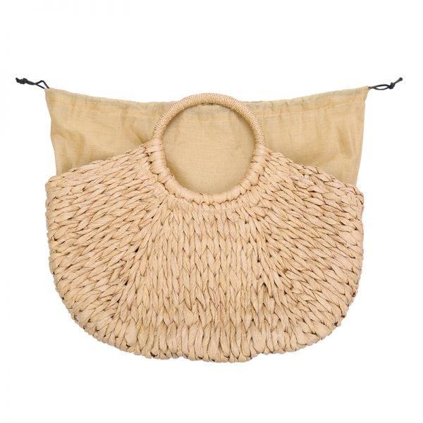 Rattan Tas Summer Love rotan rieten dames tassen strand beige bruine zomer online kopen grote tassen