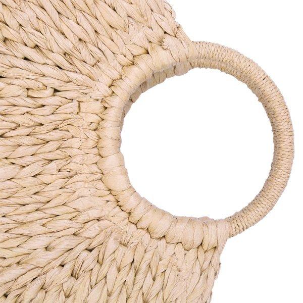 Rattan Tas Summer Love rotan rieten dames tassen strand beige bruine zomer online kopen rond handvat