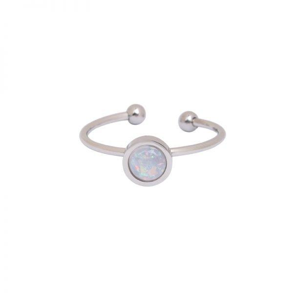 Ring Be Mine zilver zilveren open ringen witte stenen musthave ringen dames sieraden online kopen