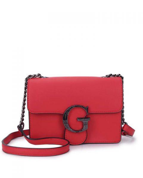 Tas G Snake Flap rood rode dames schoudertassen kettinghengsel zilveren g gesp giuliano tassen kunstleder festival bags