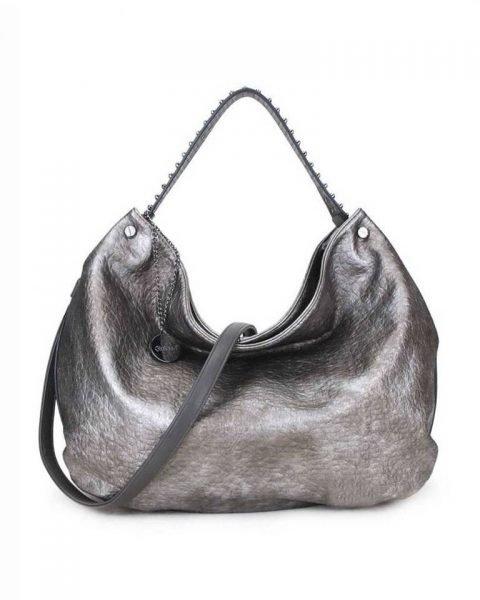 Tas Tassle Studs brons bronzen ruime dames tasssen chique trendy schoudertassen met kwastje & studs hengsel fashion bags kopen bestellen