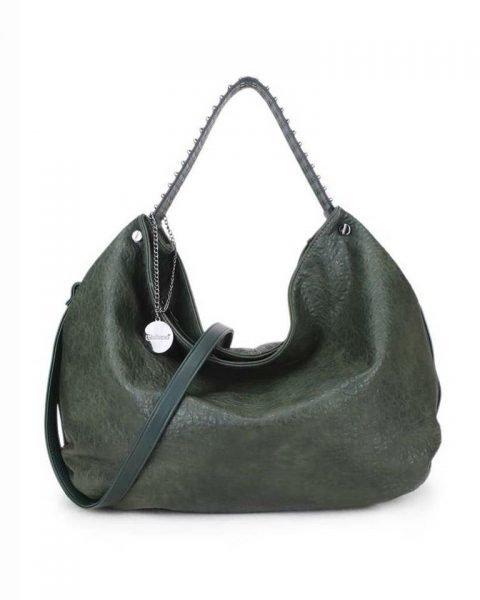 Tas Tassle Studs groen groene ruime dames tasssen chique trendy schoudertassen met kwastje & studs hengsel fashion bags kopen bestellen