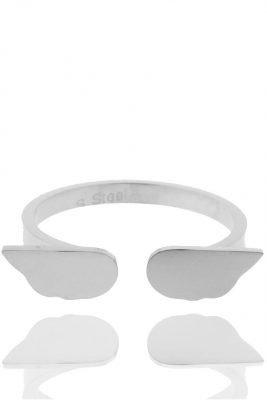rvs-ring-angel-wings-zilver zilveren roestvrij stalen open ringen met vleugels accessoires 16 online bestellen
