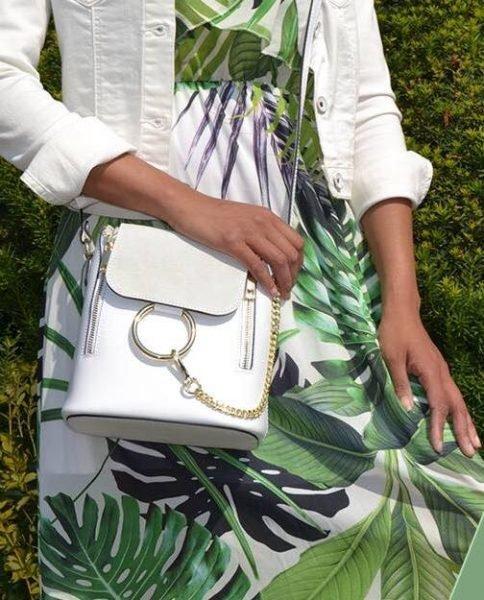 witte leren tassen gouden details online tas kopen bestellen