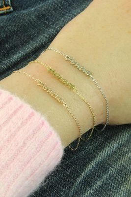 RVS Armband Amour rose en zilver zilveren dames armbanden bracelet tekst liefde dunne damesarmbandjes online kopen roestvrij staal kado