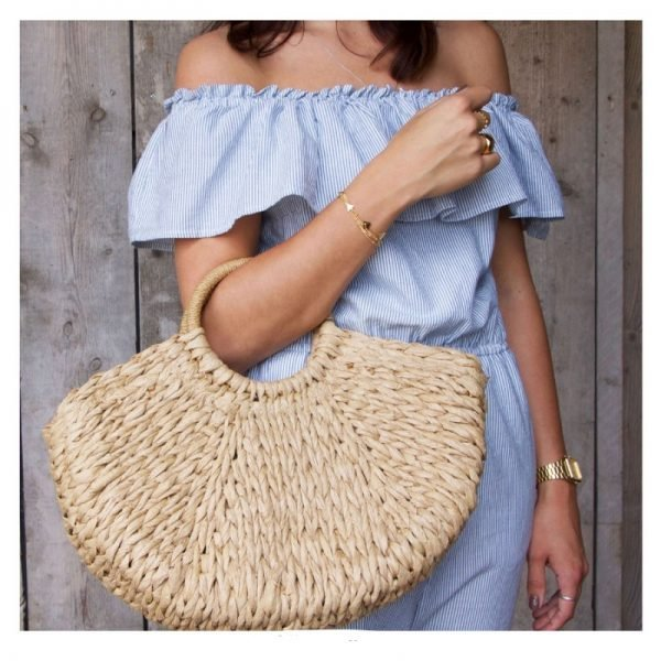 Rattan Tas Summer Love rotan rieten dames tassen strand beige bruine zomer online kopen fashion riet