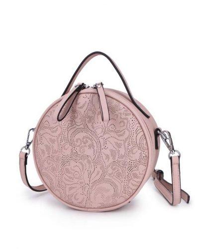 Ronde Schoudertas Classy roze pink kleine ronde schoudertassen kant motief print musthave zomer tassen bags dames online giuliano