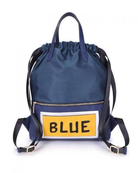 Rugtas King blauw blauwe grote rugzakken rugzak backpacks met tekst blue musthave fashion tassen online kopen