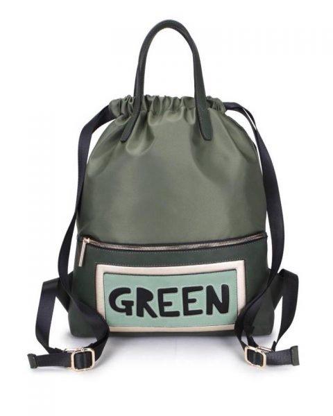 Rugtas King groen groene grote rugzakken rugzak backpacks met tekst green musthave fashion tassen online kopen