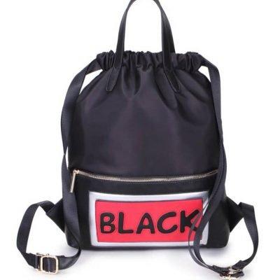Rugtas King zwart zwarte grote rugzakken rugzak backpacks met tekst black musthave fashion tassen online kopen