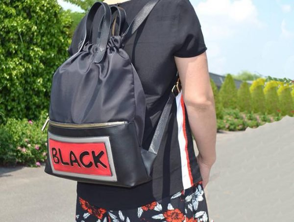 Rugtas King zwart zwarte grote rugzakken rugzak backpacks met tekst black musthave fashion tassen online kopen bestellen