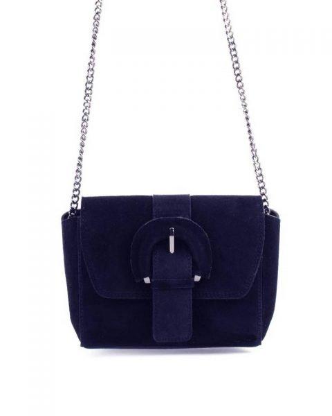 Suede Schoudertas Love blauw blauwe leren giulino tassen zilveren kettinghengsel look a like bags goedkope dames tassen online