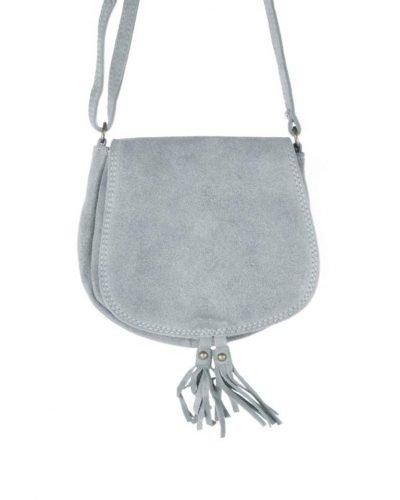 Suede Schoudertas Tassles grijs grijze leren suede tassen klosjes festival tasjes kleine tassen online bestellen giuliano