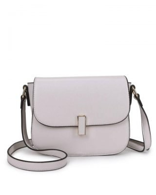 Tas Simply beige nude creme schoudertassen draaisluiting dames tassen tas itbag kunstleder giuliano online tassen kopen