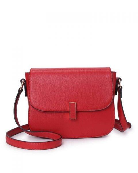 Tas Simply rood rode schoudertassen draaisluiting dames tassen tas itbag kunstleder giuliano online tassen kopen