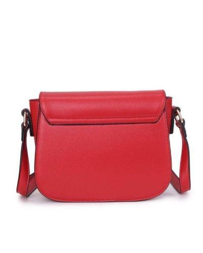 Tas Simply rood rode schoudertassen draaisluiting dames tassen tas itbag kunstleder giuliano online tassen kopen achter