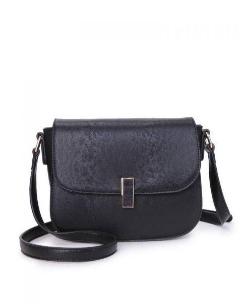Tas Simply zwart zwarte schoudertassen draaisluiting dames tassen tas itbag kunstleder giuliano online tassen kopen