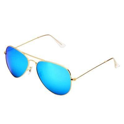 Zonnebril Miss Pilot goud gouden piloten montuur blauw blauwe glazen musthave fashion brillen online