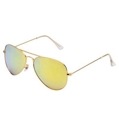 Zonnebril Miss Pilot goud gouden piloten montuur gele geel glazen musthave fashion brillen online