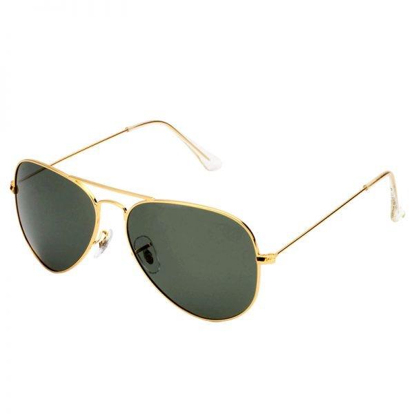 Zonnebril Miss Pilot goud gouden piloten montuur groene groen glazen musthave fashion brillen online