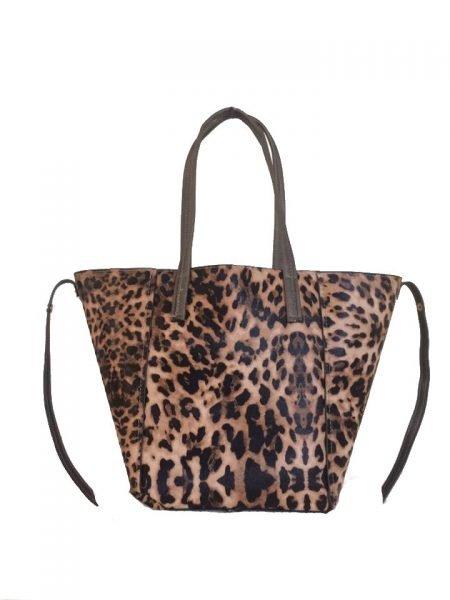 Bag in Bag Tas Leopard Lilly bruin bruine leopard tiger tijger print shopper dames tassen online bestellen binnen extra fashion goedkope