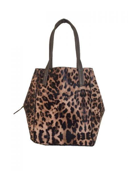 Bag in Bag Tas Leopard Lilly bruin bruine leopard tiger tijger print shopper dames tassen online bestellen binnen extra fashion goedkope giuliano