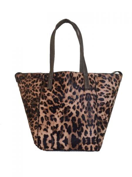 Bag in Bag Tas Leopard Lilly bruin bruine leopard tiger tijger print shopper dames tassen online bestellen binnen extra fashion luxe