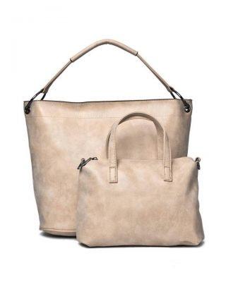 Bag in Bag Tas Summer beige creme dames handtassen extra kleine tas kunstleder online bestellen kopen giuliano