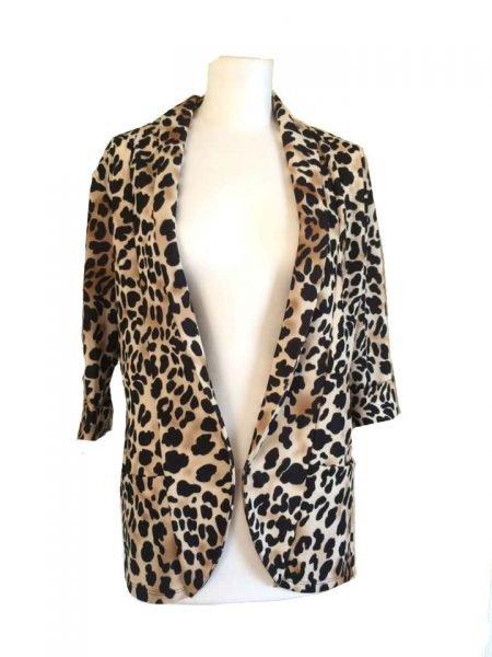 Blazer Tiger Love tijgerprint blazer leopard blazers dames kleding fashion jasjes open online bestellen mode vest musthaves jassen leopard print
