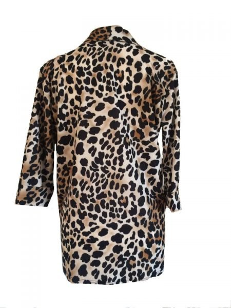 Blazer Tiger Love tijgerprint blazer leopard blazers dames kleding fashion jasjes open online bestellen mode vest musthaves jassen leopard print achter