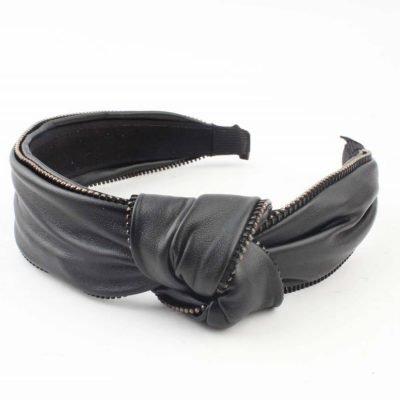 Diadeem Rits zwart zwarte haar bandeaux haarbanden diademen haarbandeaux haar accessoires online kopen