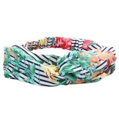 Haarband Flower bomb groen dames haarbanden bloemenprint kleurrijke prints musthave fashion headbands