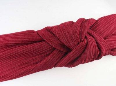 Haarband Knoop rood rode dames haarbanden haaraccesoires elastiek achter fashion headbands online detail