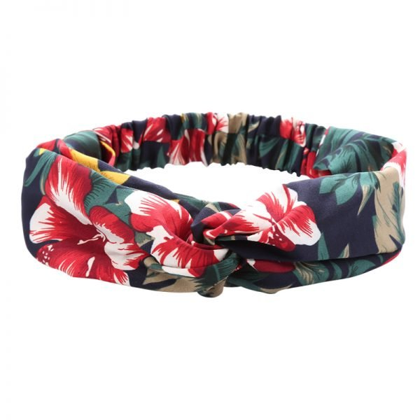 Haarband burgundy flower dames haarbanden bloemenprint kleurrijke prints musthave fashion headbands