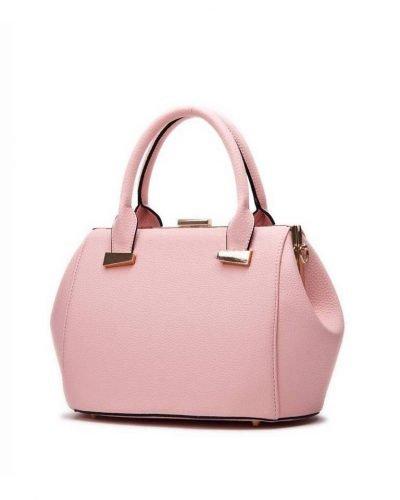 Handtas Knip roze pink dames tassen handtassen met knipsluiting goud beslag musthave kunstleder tas giuliano kopen
