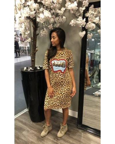 Jurk Tiger Lilly tijgerprint dierenprint cartoon tekst jurken dames kleding mode musthave fashion bestellen kopen summer dress