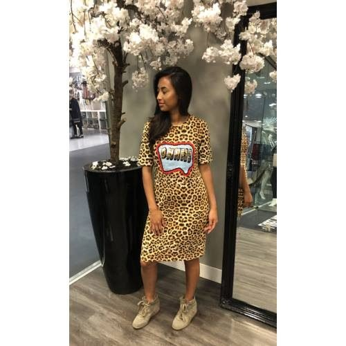 Jurk Tiger Lilly tijgerprint dierenprint cartoon tekst jurken dames kleding mode musthave fashion bestellen kopen summer dress