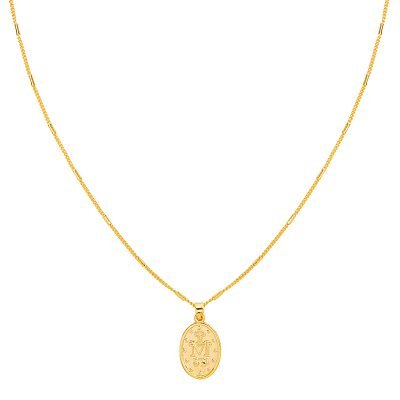Ketting Saint Mary goud gouden dames lange kettingen heilig gold plated sieraden accessoires online bestellen bedels achter
