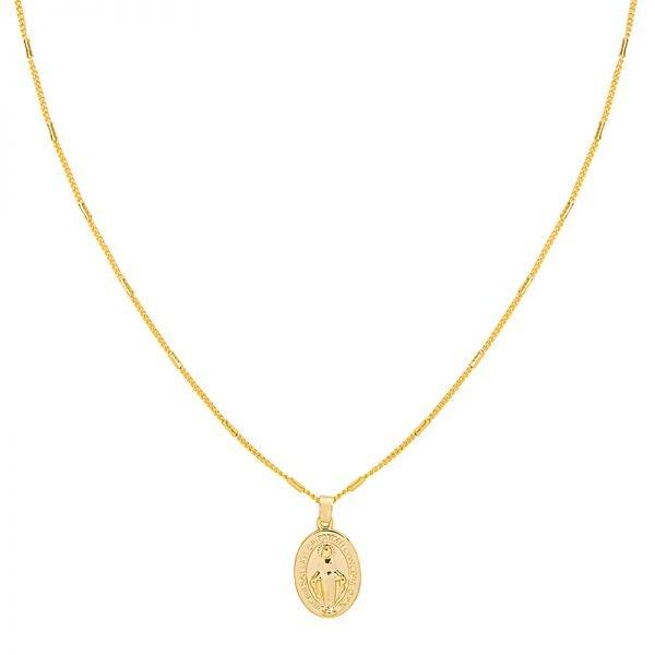Ketting Saint Mary goud gouden dames lange kettingen heilig gold plated sieraden accessoires online bestellen bedels voor